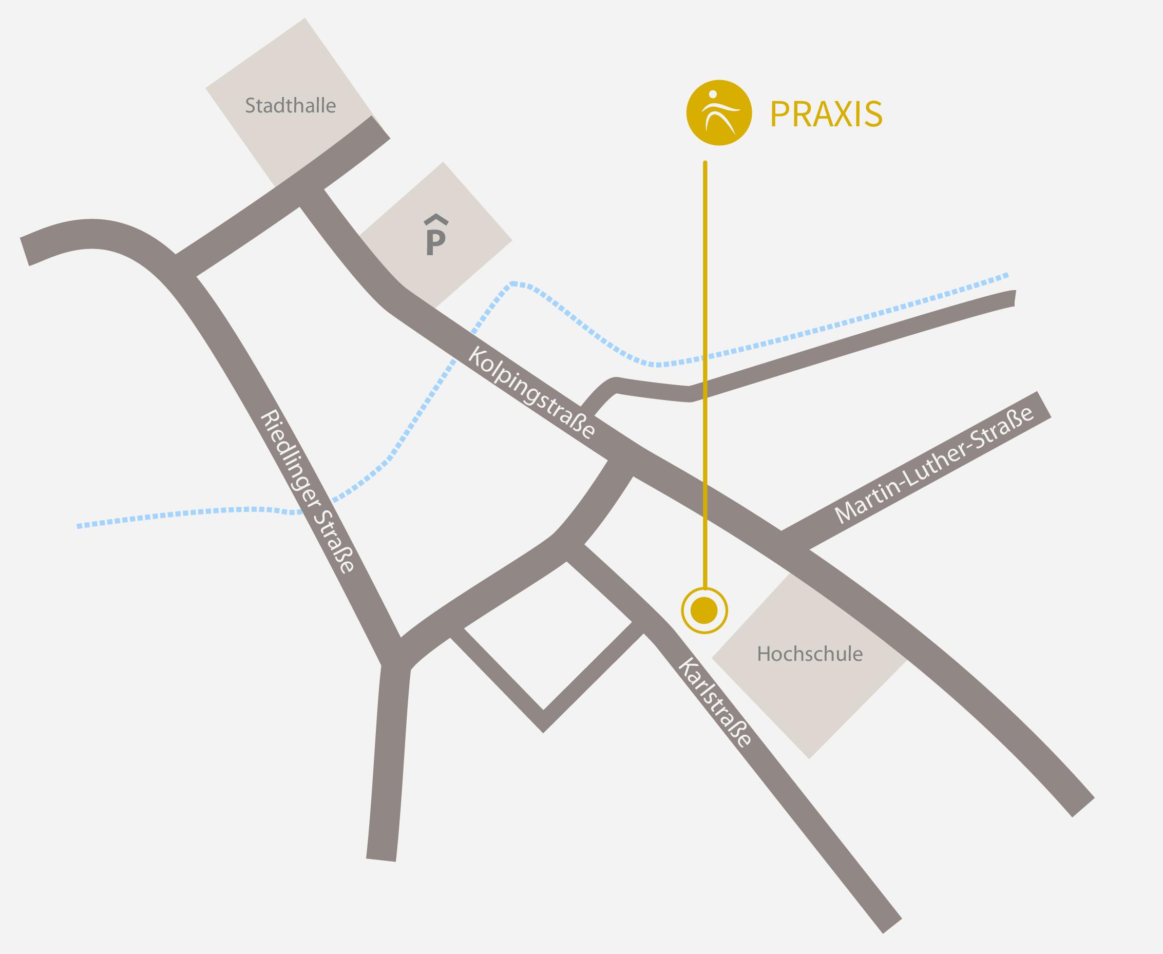 Anfahrt Kalrstraße